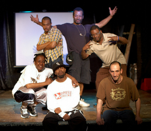 The Concrete Jungle troupe in 2010 at NYC's Theater of the Oppressed